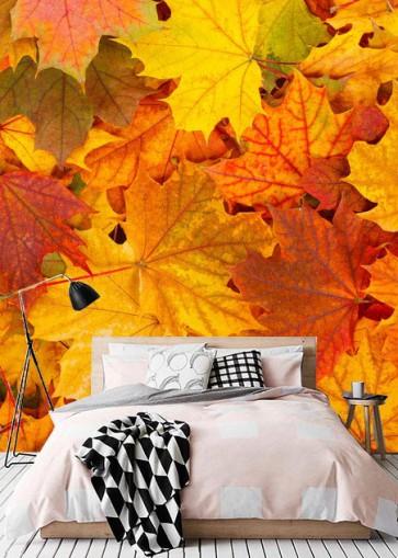 Fotomural otoño hojas
