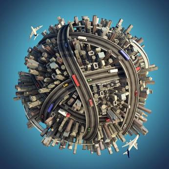 Fotomural Planeta Urbano