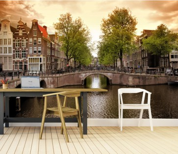 Fotomural Amsterdam Canales