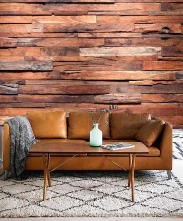 Fotomural madera cálida