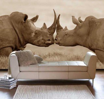 Fotomural Rinocerontes