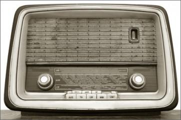 Fotomural Old radio