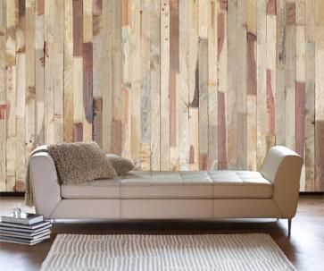Fotomural madera multicolor