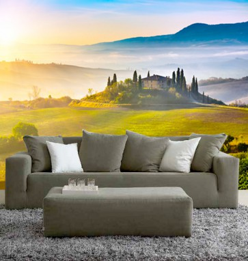 Fotomural puesta sol Toscana