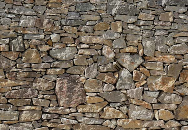 fotomural pared de piedra zoom - Pared Piedra