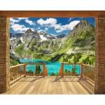 Balcón en los Alpes