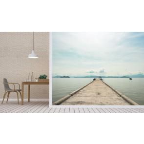 Fotomural Embarcadero con vistas al mar