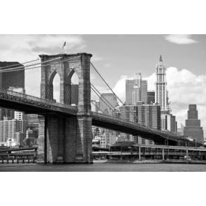 Fotomural Brooklyn Bridge blanco y negro