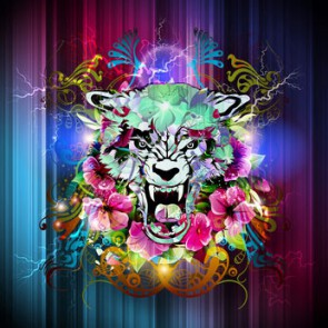 Fotomural Ilustración Tigre