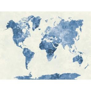 Fotomural Mapamundi azul