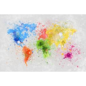 Fotomural mapamundi pintura