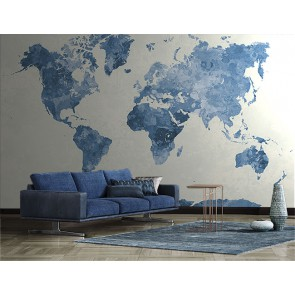 Fotomural mapa mundi azul