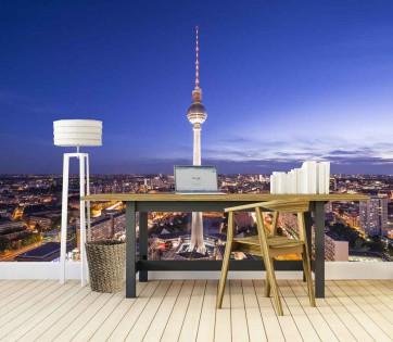 Fotomural Skyline Berlín Nocturno