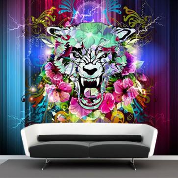 Fotomural grafitti tigre