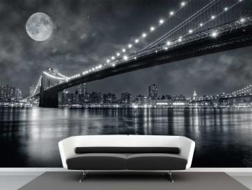 Fotomural Brooklyn Bridge Full Moon