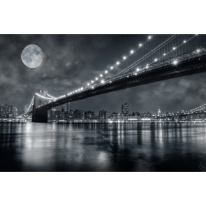 Fotomural Brooklyn Bridge Full Moon
