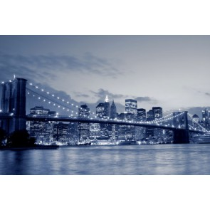 Fotomural Brooklyn Bridge Skyline