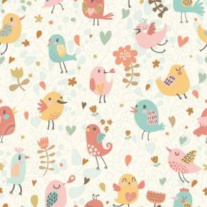 Fotomural pájaros y flores