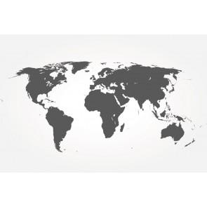 Fotomural mapamundi gris